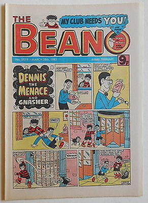 BEANO COMIC #2019 - 28th March 1981