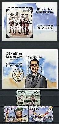 DOMINICA 1994 Pfadfinder Scouts Scouting 1948-50 + Bl.282-283 ** MNH
