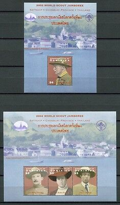 DOMINICA 2002 Pfadfinder Scouts Scouting 3309-3311 + Bl.457 ** MNH