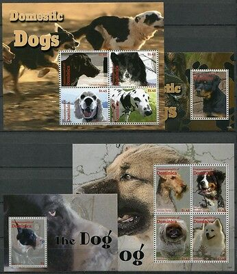 Dominica 2013 Hunde Dogs Haustiere Pets Dogge 4159-4166 Block 554-555 MNH