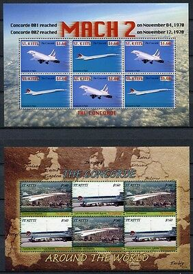 St. Kitts 2007 Concorde Flugzeuge Aircraft Airplanes 1003-1006 Postfrisch MNH