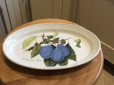 Portmeirion Pomona Oval Plate L'Imperatrice Plum