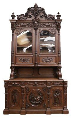 Antique French Hunt Cabinet MUSEUM Quality One of the VERY BEST, 19th Century