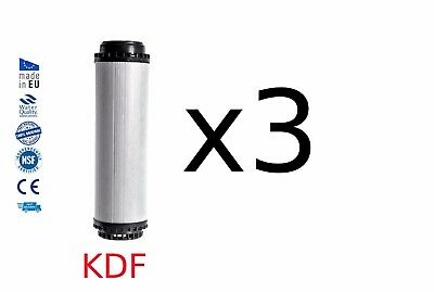 3x Home Drinking Water Filter System Replacements KOI Pond HMA KDF 10""