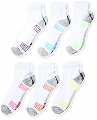 Girls 7-16 Fruit of the Loom Socks Of The Big 6 Pack Ankle- Pick SZ/Color.