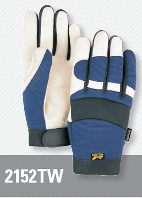 Majestic 2152TW Bald Eagle Insulated & Waterproof Mech. Gloves, Pigskin Grain