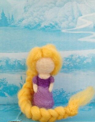 ☀ Disney Princess / Tangled Inspired Needle Felted Rapunzel / Handmade ☀