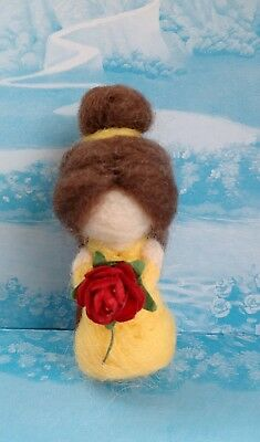 🌹 Disney Princess/Beauty and the Beast Inspired Needle Felted Belle/Handmade 🌹