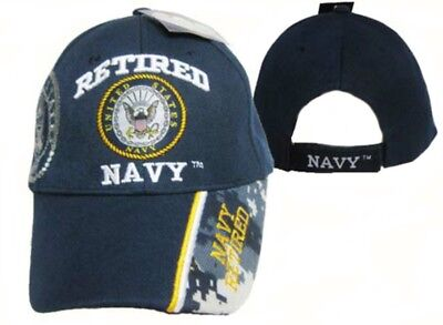 ca80ff41c80 US Navy Usn Retired Round Shadow Ball Cap Hat Navy Military Veteran ...