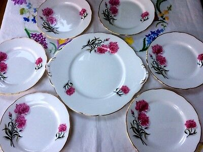 Vintage Royal Standard 'Peony' China Tea Plates & Cake/Bread & Butter Plate Set