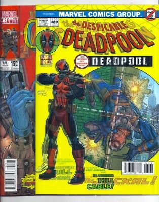 Deadpool #287 & Cable #150 Lenticular Covers New Mutants #87 Spider-Man #129 Nm