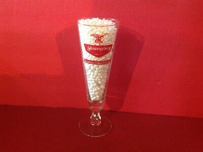 YUENGLING BEER POTTSVILLE PA.160th YEAR ANNIVERSARY PILSNER GLASS