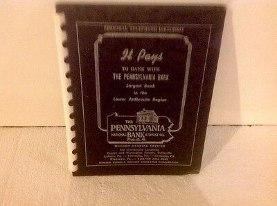 The Pennsylvania Bank Pottsville Pa. Personal Telephone Directory Ad Folder