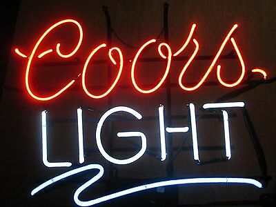 Rare Red White And Blue Neon Coors Light Beer Sign