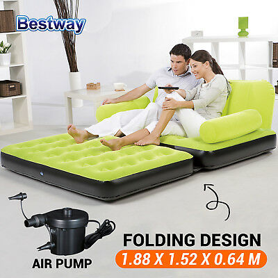 New Bestway Inflatable Camping Double Mattress Air bed Chair Sofa Couch Lounger