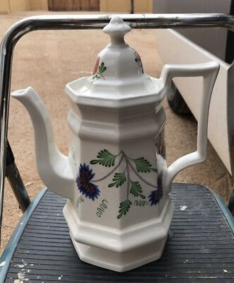GREENFIELD VILLAGE Coffee Pot By Iroquois For Henry Ford Museum,Bachelor Buttons