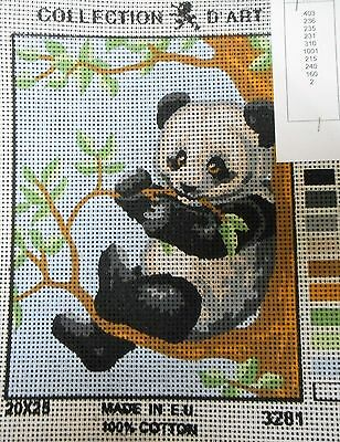 PANDA SITTING IN A TREE - Tapestry to Stitch (NEW) by COLLECTION D'ART