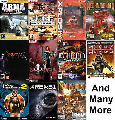 PC Games Region Free (VGC) Huge Selection ~1st Class FREE UK POSTAGE