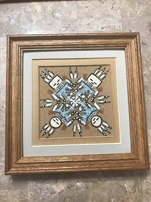 "NAVAJO Matted And Framed Authentic  9"" x 9"" , Signed By Artist"