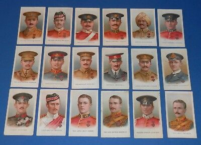 1915 Original Wills Cigarette Cards Victoria Cross Heroes (Military VC's) x 18