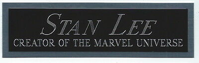 STAN LEE NAMEPLATE for AUTOGRAPHED SIGNED MARVEL COMIC BOOK-ART WORK-PHOTO-LITHO