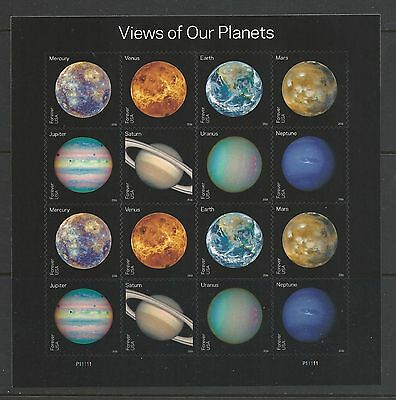 2016 #5069-5076 View of Our Planets Pane of 16 MNH