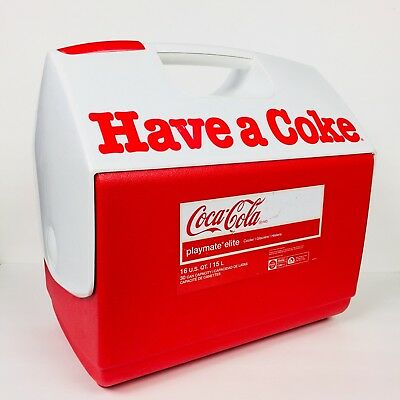 Coca Cola Igloo Travel Cooler Have a Coke And A Smile Playmate Elite Chest