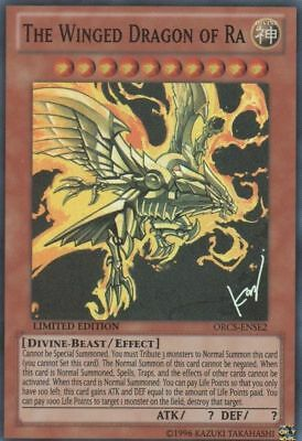 YUGIOH Card The Winged Dragon of Ra ORCS-ENSE2 Super Rare Limited Edition