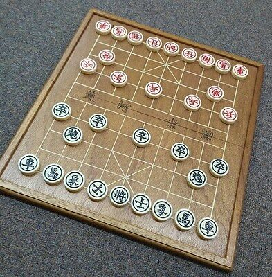 Chinese Chess Set with Wooden Board (Fold Up)-I