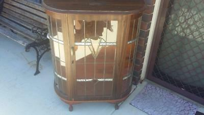 Vintage Crystal Cabinet.house,old rare,tools,shed,room,antique,lounge,furniture.