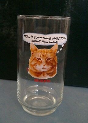 "Vintage 1981 9-Lives Cat Food ""Morris The Cat"" Advertisement Drinking Glass"