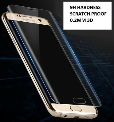 Case Friendly Tempered Glass Full Covered Samsung Galaxy S7 Edge 9H Hardness 3D