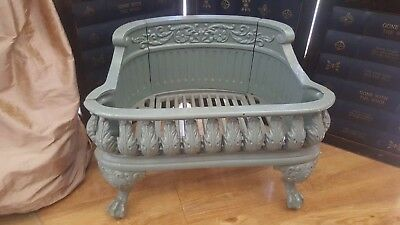 Antique Vintage Cast Wrought Iron Fire Grate fireplace Pets cat Dog Gothic bed