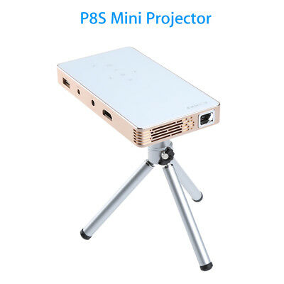 DLP Portable Projector HD 1080P Home Theater USB Play Mirroring 4500mAh Battery