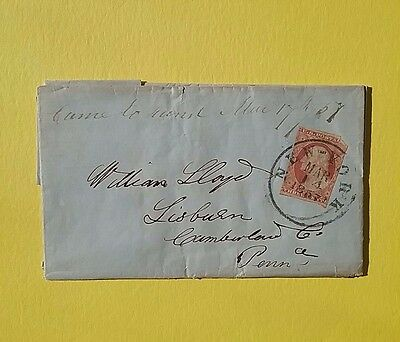 USA 1857 Washington 3 c cover New York