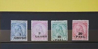 Albania 1914 Surcharged Skanderbeg stamp issues