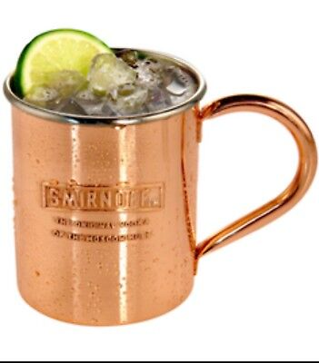 Smirnoff Vodka Moscow Mule Copper Cup. Mug is 13 oz, new never used. NIB