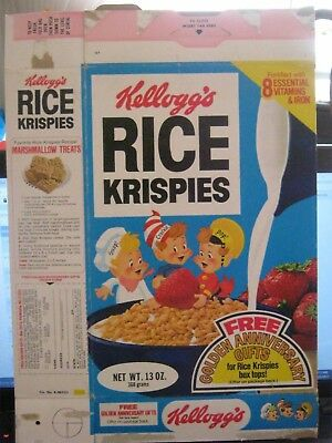 1978 Kelloggs Rice Krispies Old Vintage Cereal Box 50Th Anniversary Offers