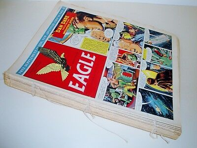 DAN DARE EAGLE COMIC x 27 CONSECUTIVE BOUND ISSUES VINTAGE 1950s INC CHRISTMAS