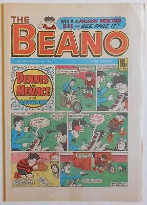BEANO COMIC #2270 - 18th January 1986