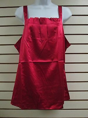 Nwt - Kathleen Kirkwood Stretch Pleated Red Cami, Size Xl