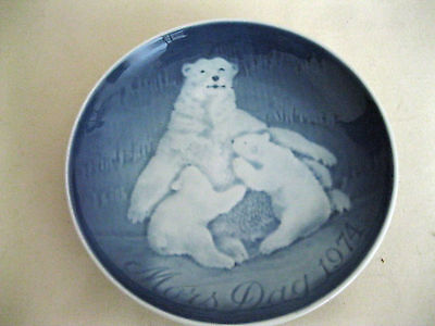 Royal Copenhagen Bing Grondahl Collectible Mothers Day Plate 1974