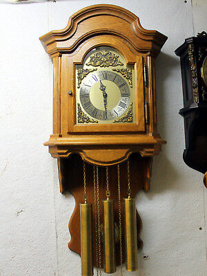 Old Wall Clock Comtoise Westminster 3 Weight brass Chime clock *FRANZ HERMLE*
