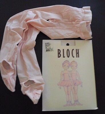 NEW IN PACKAGE  Bloch Pink SEAMED Adaptatoe Tights Ballet Girls Nylon Lycra