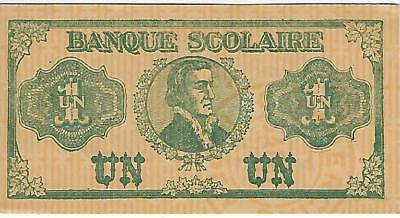 lot of five different school paper money from 1920 in Quebec Canada