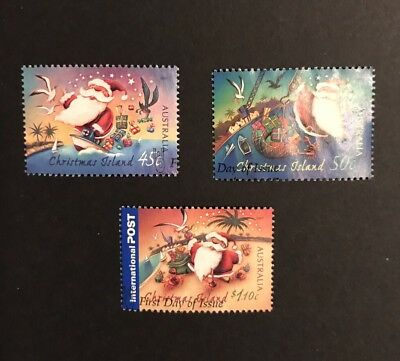 Christmas Island 2007 Christmas Set Of 3 Used Stamps