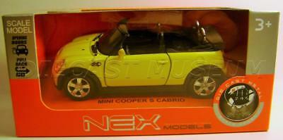Mini Cooper S Cabrio Nex Models Welly Pull Back Diecast 2017