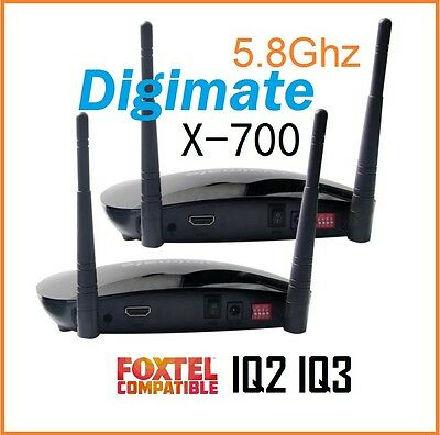 Digimate x-700 Wireless 5.8GHz  HDMI AV Sender / Receiver Kit For Foxtel IQ2 IQ3