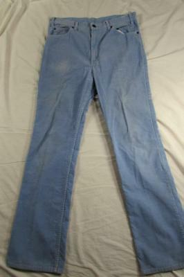 Vtg 80s USA Made Levi's 517 Corduroy Boot Cut Pants Tag 36x36 Measure 36x34.5