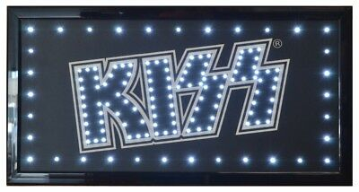 KISS the Rock Band  LED Sign 19 x 10 - Officially Licensed   Free Shipping